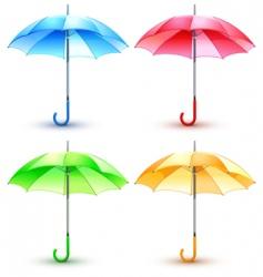 color umbrellas vector image
