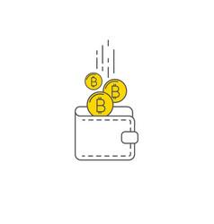 digital gold bitcoin wallet concept vector image vector image