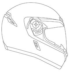 Motor racing helmet vector image vector image