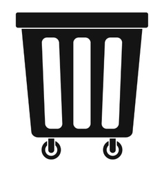 Outdoor plastic trash can icon simple style vector image