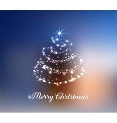 Stylized Christmas tree pine vector image vector image