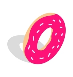 Donut icon isometric 3d style vector image