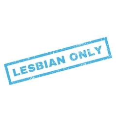 Lesbian only rubber stamp vector