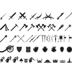 medieval weapons vector image