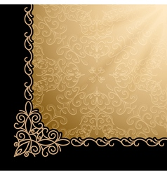 Vintage gold corner background vector image vector image