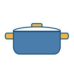 Cooking pot icon vector