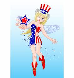 fourth of july fairy vector image vector image