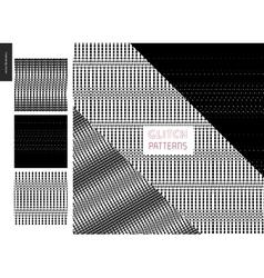 Glitch patterns set vector image vector image