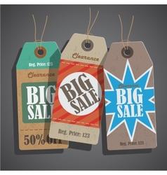 Sale tags set vintage vector image vector image