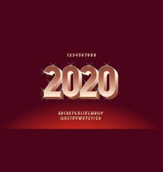 2020 christmas font modern typography vector image