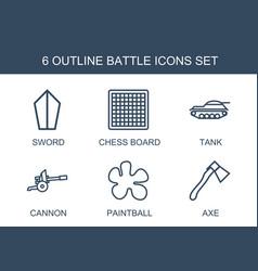 6 battle icons vector