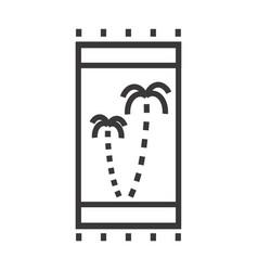 A beach towel vector
