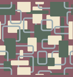 Abstract squares seamless vitage cream vector
