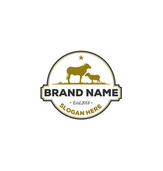 animal farm logo designs vintage logo vector image