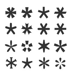 Asterisk icon set vector