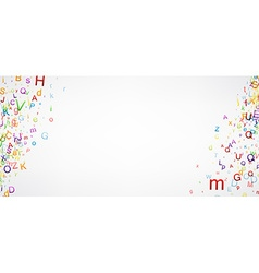 Banner with letters vector image