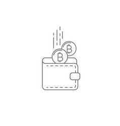 bitcoin wallet concept icon vector image