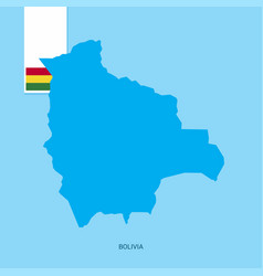 Bolivia country map with flag over blue background vector