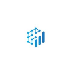Business graph technology logo vector