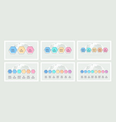 business infographic timeline with 3 4 5 6 7 vector image