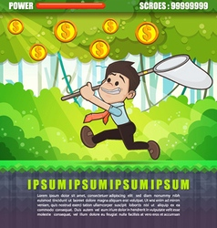 Businessman catch the money vector image
