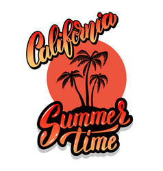 california summer time emblem template with waves vector image