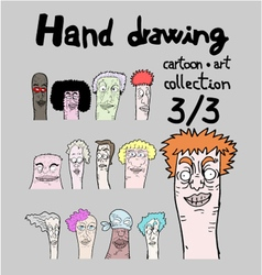 Cartoon collection III vector image