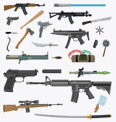 Cartoon weapons pack 1 vector