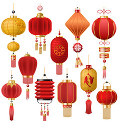chinese lantern traditional red lantern vector image