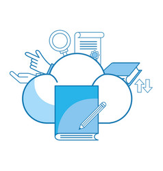 cloud and book vector image