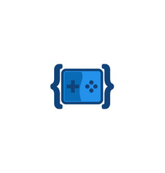 code game logo designs inspiration vector image
