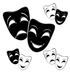 collection of theater masks vector image