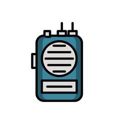 Communicator radio military force isolated icon vector