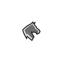 creative horse head logo vector image