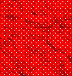 Crumpled polka dot pattern vector