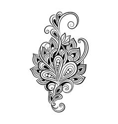 Decorative art flowers vector
