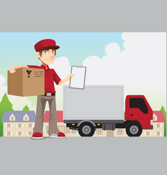 delivery person vector image