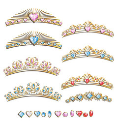 diadem princess set vector image