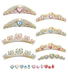 Diadem princess set vector