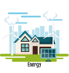 Eco friendly house design vector