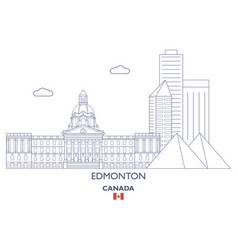 edmonton city skyline vector image