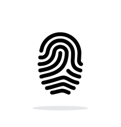 Fingerprint loop type icon on white background vector image