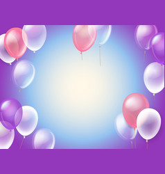 Flying air balloons template for any text vector