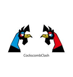 Funny head chicken boy color 2 vector