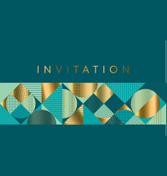 geometric luxury bright motif for header vector image