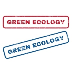 Green Ecology Rubber Stamps vector image