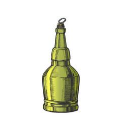 hand drawn screw cap color bottle of beer vector image