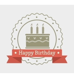 Happy birthday cake dessert vector