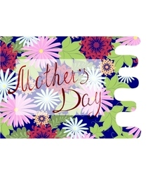 Happy Mothers Day floral greeting EPS10 vector image