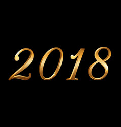 happy new year background gold numbers 2018 vector image